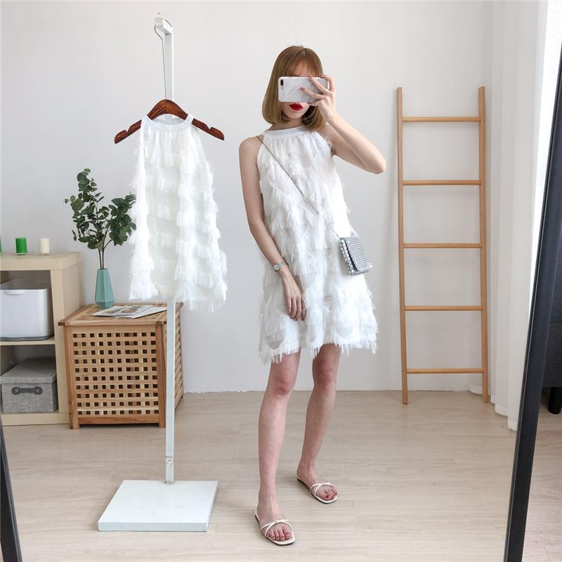 高端亲子装网红连衣裙潮新款雪纺裙