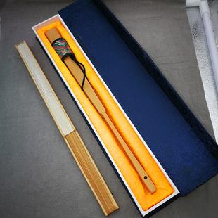 9.5寸18方 文玩精工扇子 礼品送人书法题字收藏扇 玉竹精品折扇