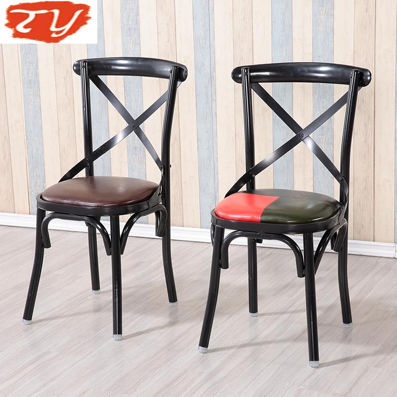 天宇家具新款铁艺快餐桌椅子奶茶甜品店咖啡主题西餐厅餐桌椅组合