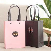 Simple solid color rivet gift bag wedding clothing bag candy with hand gift bag Christmas day paper bag bag