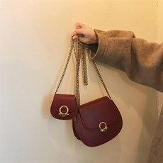 [South wind] saddle bag female bag 2019 new fashion net red mini Messenger bag chain shoulder bag small bag