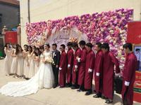Chinese wedding dress, groomsmen, bridesmaid dress, men's gown, robes, robes, folk costumes, comics, brotherhood