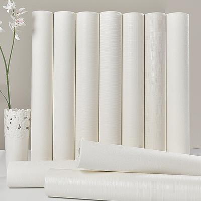 加厚素色純色細條紋防水壁紙 服裝店酒店賓館客廳滿鋪墻紙純白色十大品牌