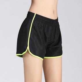 2017夏运动跑步短裤女显瘦速干健身瑜伽裤宽松大码马拉松三分热裤