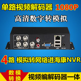 Gb 4 analog camera to network digital converter monitoring video decoder haikang dahua coding