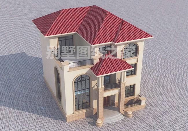 别墅设计图纸效果图三层长风中式新农村自建房屋建筑设计施工图