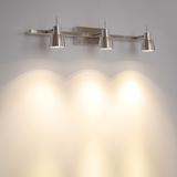 LED1W3W9W明装射灯三头轨道灯吸顶墙壁照字画灯背景墙壁灯镜前灯