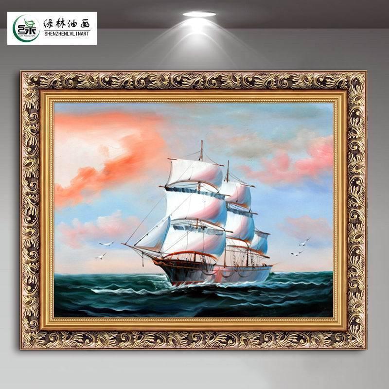 一帆风顺油画客厅