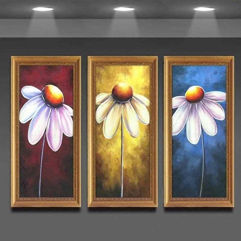 三联餐厅玄关走廊挂画