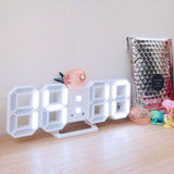 LED red ins alarm clock Nordic tremble ins digital clock girl heart desktop alarm clock simple bedside night light