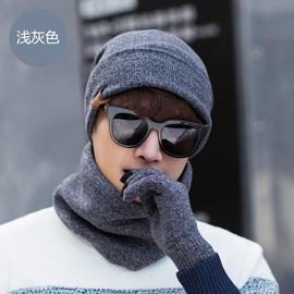 三件套冬季保暖韩版加绒加厚帽子