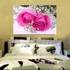 床头玫瑰花壁画