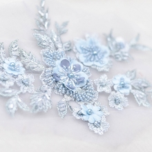 Three-dimensional nail embroidery beads lace applique down jacket patch decorative flowers wedding dresses DIY accessories accessories