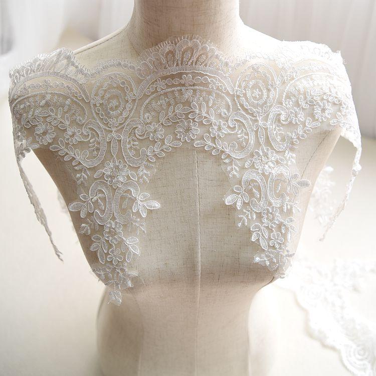 婚纱刺绣睫毛蕾丝亮片花边辅料 手工diy材料 舞台布景装饰材料白