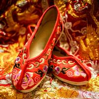 老北京布鞋中式婚鞋女绣花鞋秀禾鞋新娘婚鞋红色千层底平底鞋绣鞋