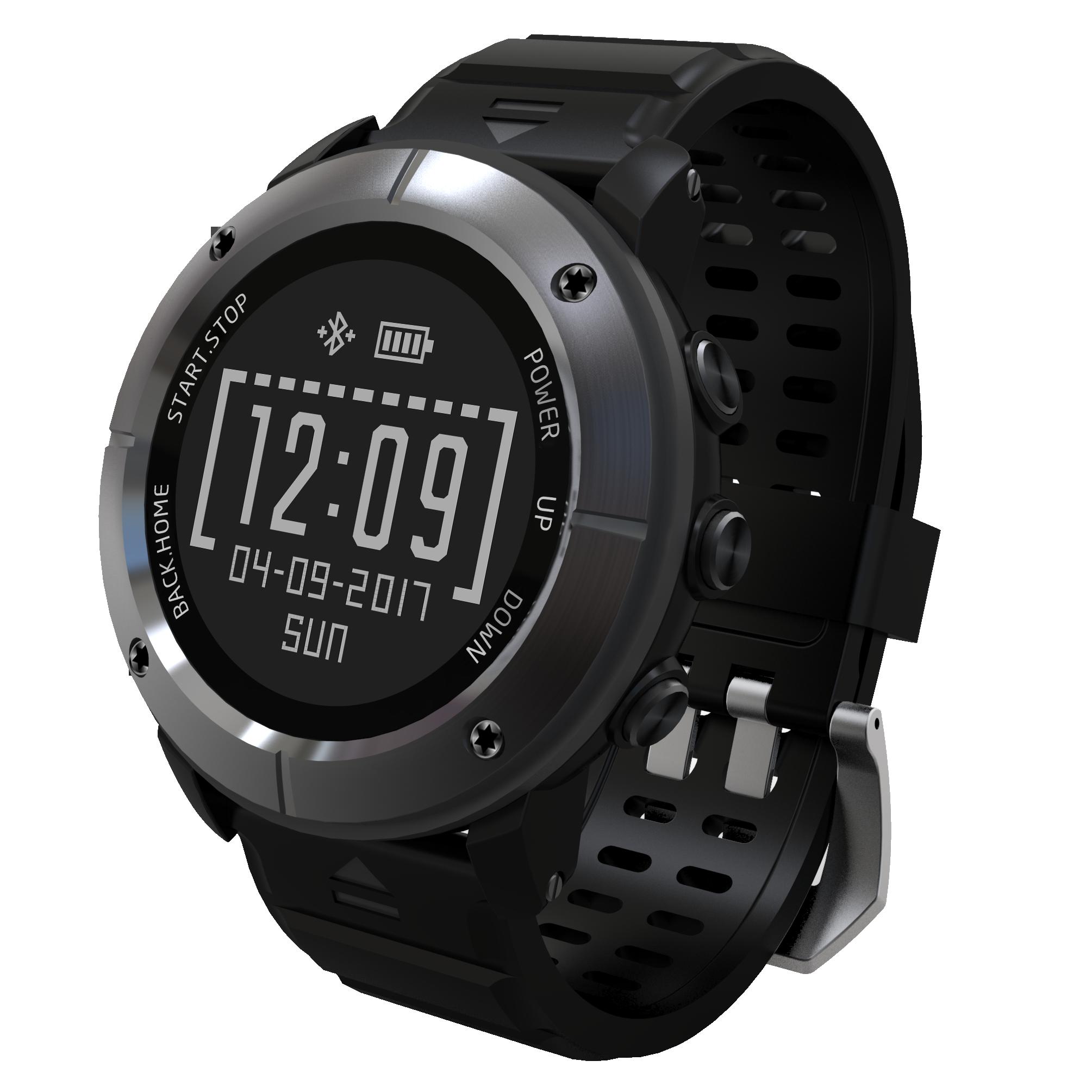 Uwear户外运动多功能北斗GPS心率跑步轨迹指南针气压海拔游泳手表