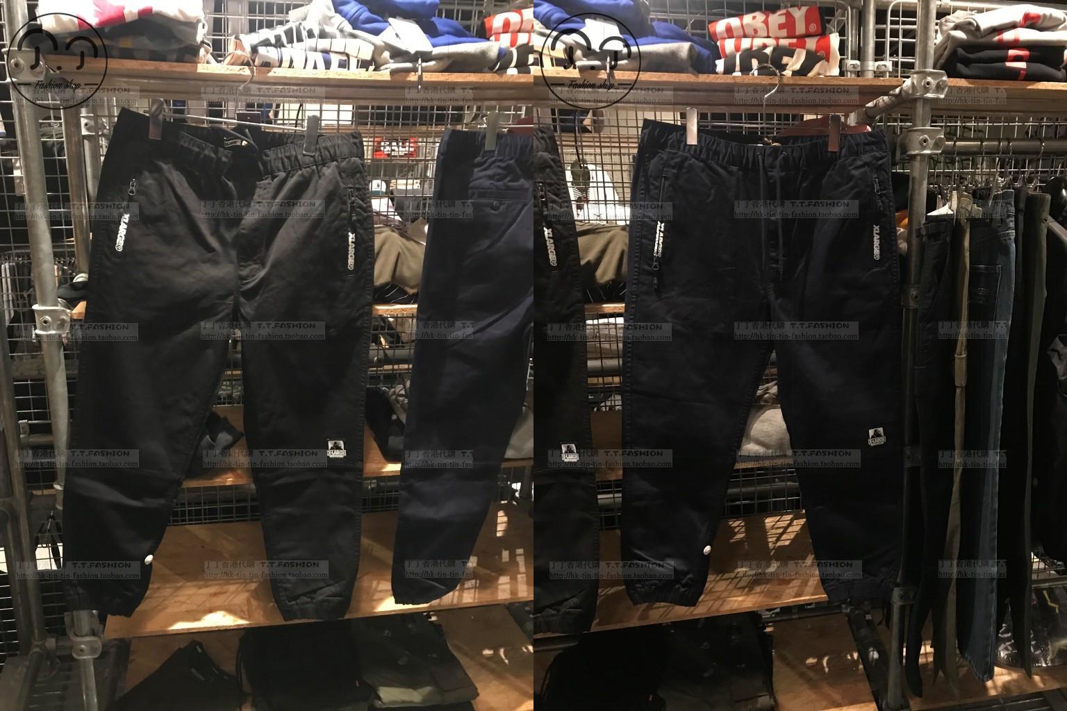 丁丁香港潮店XLARGE男装简约口袋休闲长裤18秋60072