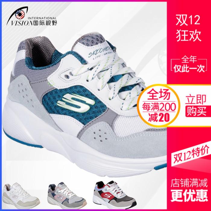 Skechers 斯凱奇女鞋透氣輕便舒適復古休閑運動跑步鞋老爹鞋13019
