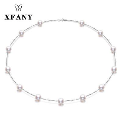 【希梵尼】天然珍珠项链 满天星项链 925银锁骨链 送女友