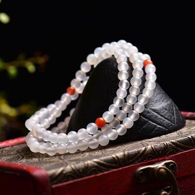 三安天然玛瑙荔枝冻多圈手链女款水晶饰品白玛瑙红玛瑙手串