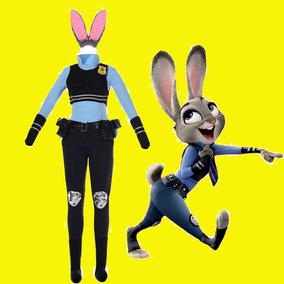 疯狂动物城万圣节cosplay服装 动漫兔朱迪警官judy全套 zootopia