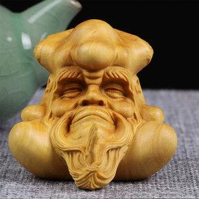 乐清黄杨木雕创意饰品摆件实木雕刻工艺把玩文玩礼品精品收藏达摩