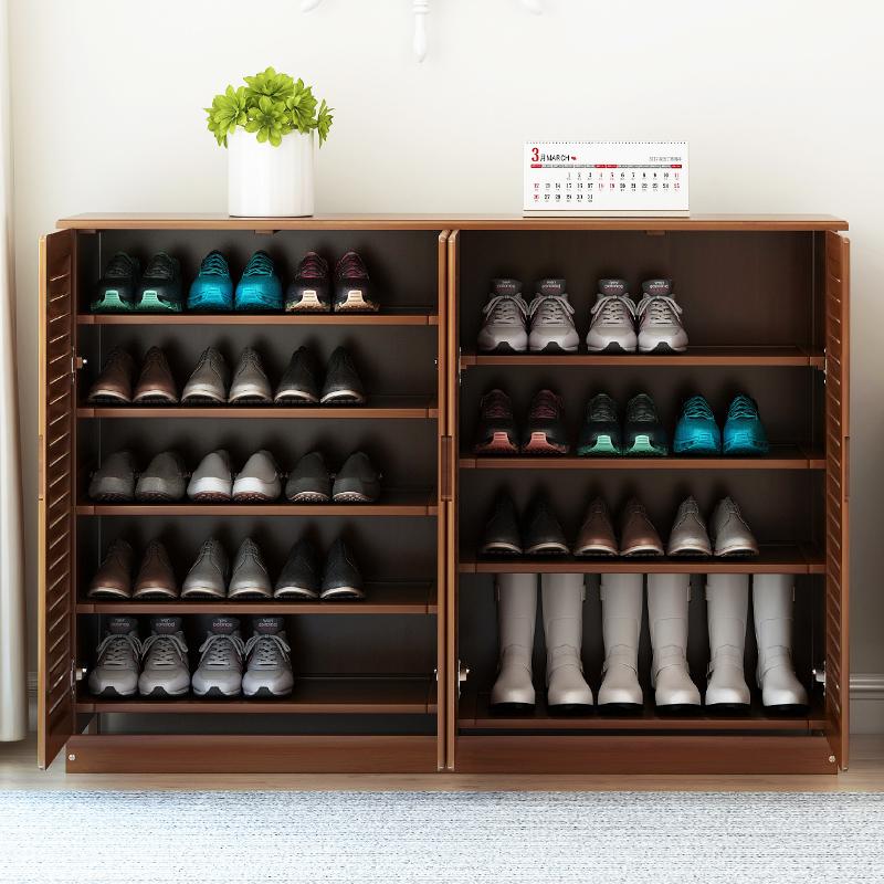 金木鱼实木鞋柜经济型家用门口省空间多功能鞋架简约现代收纳客厅