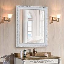 欧式浴室镜子卫生间镜壁挂防水卫浴镜化妆镜带框梳妆镜穿衣镜简约
