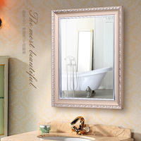 European-style bathroom mirror bathroom mirror wall mount waterproof bathroom mirror makeup mirror with frame dressing mirror dressing mirror simple