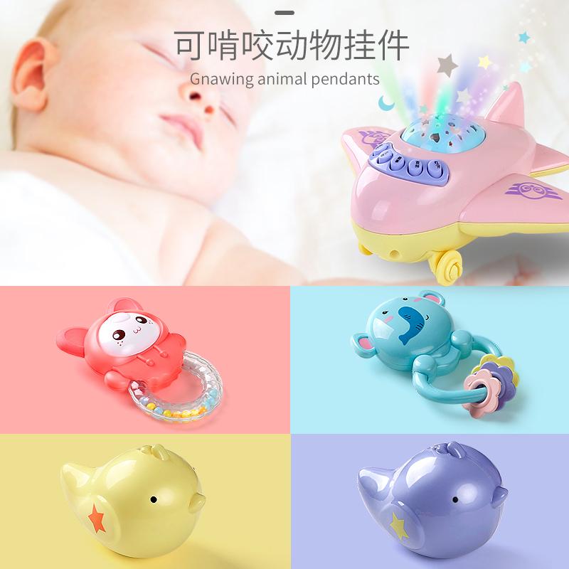 婴儿玩具手摇铃初生宝宝女孩0-1岁3-6-12个月早教幼儿童益智玩具