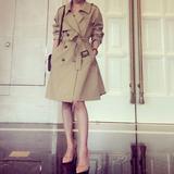 风衣外套女装2019韩国春秋新款韩版中长款气质百搭卡其色大码风衣