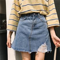 青春耐看显腿长秋季新款森女系字半身裙A时尚百搭波点毛呢