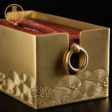 Brass New Chinese-style Rosewood Towel Box High-grade Luxury Gift Pure Copper Drawing Box Living Room Tea Table Light Luxury Nordic