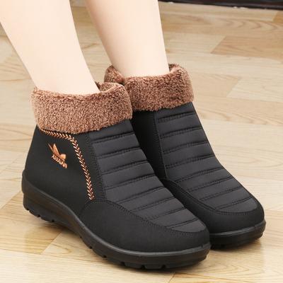 棉鞋女冬老北京布鞋女靴子中老年加绒保暖妈妈短靴老人防滑雪地靴