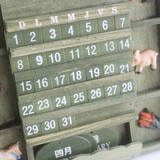 Manual wooden calendar creative ornaments Countdown wooden desk calendar calendar decoration furnishings crafts gifts