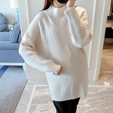 Pregnant women sweater women's autumn and winter short pregnancy loose hooded bottoming sweater Korean version of maternity wear winter tops