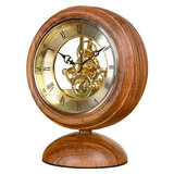 Chinese Clock, Huali Solid Wood Decorative Seat Clock, Chinese Creative Home Clock, Living Room Creative Table Clock HD19