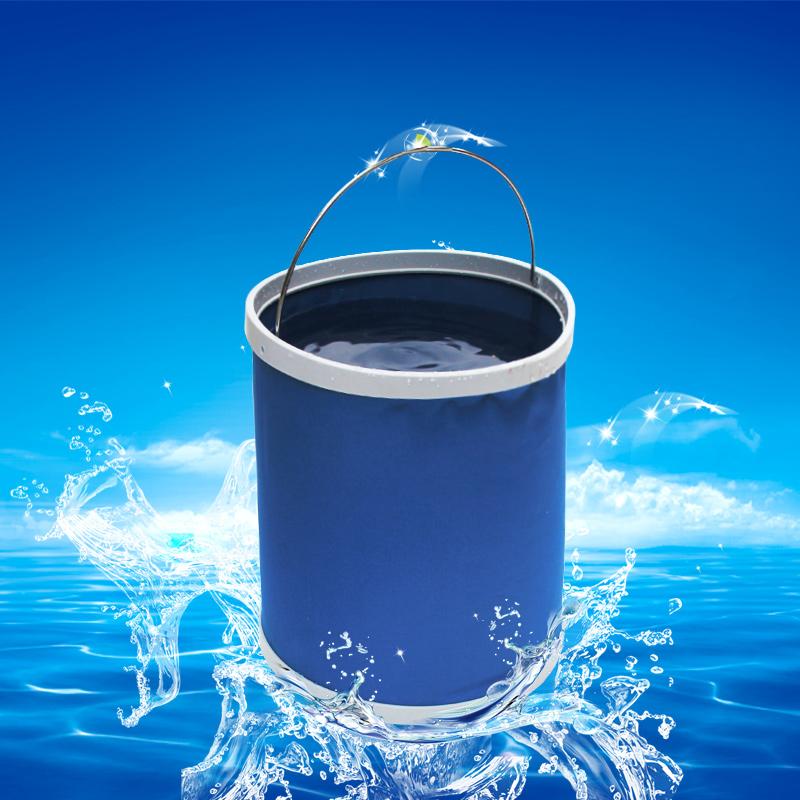 百草堂 可折叠桶洗车用水桶便携式汽车车载伸缩桶户外钓鱼储水桶