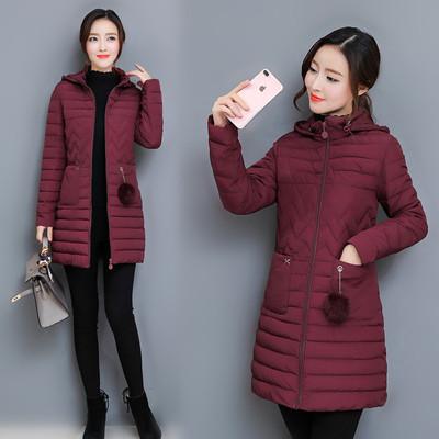 99棉衣女外套2018新款秋冬季韩版修身显瘦大码中长款轻薄羽绒棉服