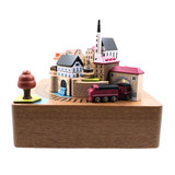 Taiwan's jeancard autumn train music box eight-tone box friend birthday gift Valentine's Day colleague son creative