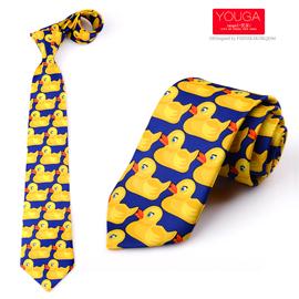 卡通小黄鸭领带8cm男士正装潮款伴郎领带 情侣趣味Yellow duck图片