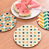 2 Pack Household non-slip wooden insulation mat Nordic anti-hot table mat plate pad coaster casserole pad bowl mat