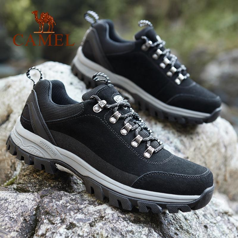 骆驼户外登山鞋男 2019秋冬季男鞋运动鞋轻便透气旅游越野徒步鞋