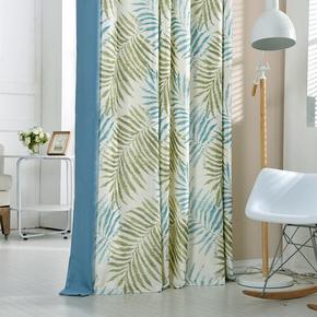 布兰朵 波西米亚风时尚简约田园卧室书房客厅窗帘布艺成品定制
