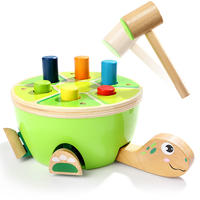 Topbright1-3 years old male baby small hammer beat toy children's puzzle knocking piling table toy