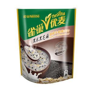 雀巢优麦黑米黑芝麻即食牛奶燕麦片早餐营养谷物麦片350g