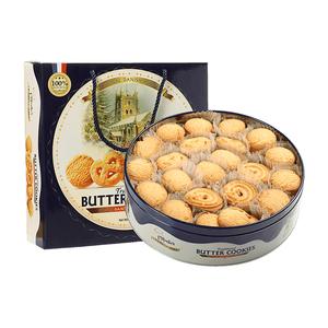 马来西亚进口爱芙黄油曲奇饼干908g丹麦蓝罐送人礼盒