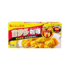 好侍百梦多咖喱 原味1号100克house块状咖喱调味料