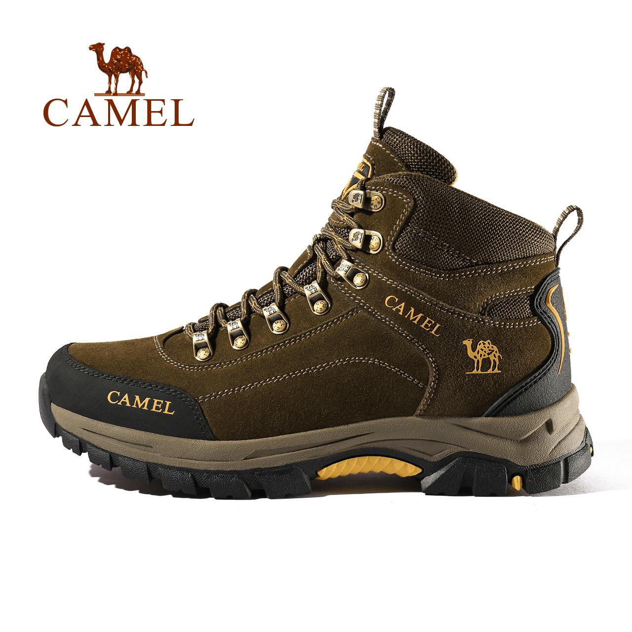 骆驼登山鞋男女防水防滑耐磨夏季旅游运动高帮登山靴徒步户外鞋履