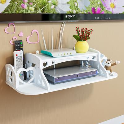 电视机顶盒架免打孔墙上置物架壁挂装饰客厅卧室路由器收纳盒隔板